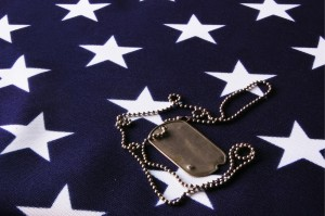 Veterans Day Flag and Tag